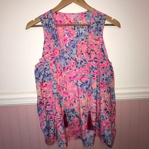 Lilly Pulitzer Finch Top Cold Shoulder